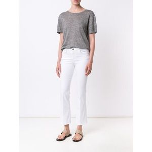 Frame Denim Le Crop Mini Boot Crop Jeans Blanc